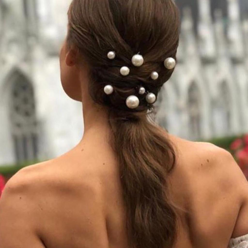 Pearl Hair Studs